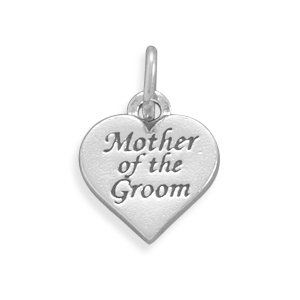 Oxidized Mother of the Groom Charm 925 Sterling Silver - DISCONTINUED