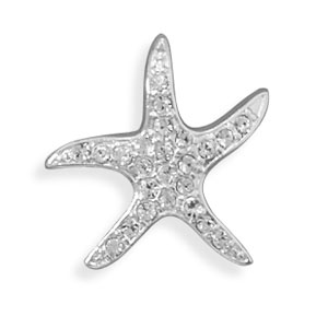 Crystal Starfish Slide 925 Sterling Silver - DISCONTINUED