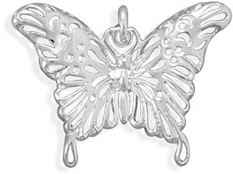 Polished Butterfly Pendant 925 Sterling Silver