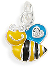 Rhodium Plated Bumble Bee Charm 925 Sterling Silver - DISCONTINUED