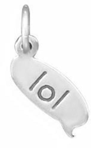 """lol"" Text Message Charm 925 Sterling Silver"