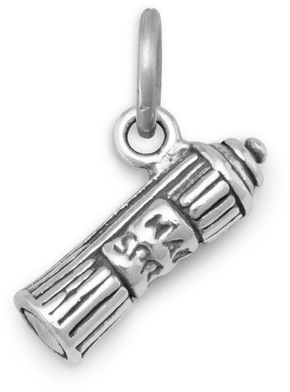 Oxidized Hair Spray Charm 925 Sterling Silver