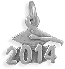 Oxidized 2014 Charm 925 Sterling Silver - DISCONTINUED