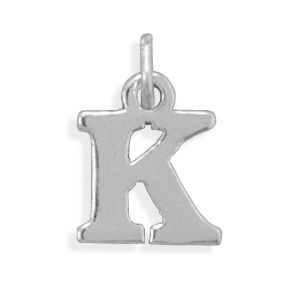 Oxidized K Charm 925 Sterling Silver - DISCONTINUED