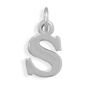 Oxidized S Charm 925 Sterling Silver - DISCONTINUED