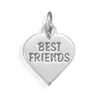 Oxidized Best Friends Charm 925 Sterling Silver- DISCONTINUED