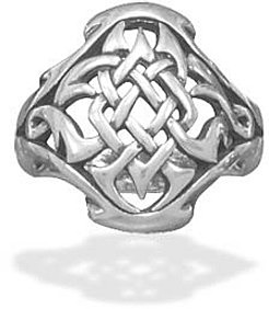 Oxidized Celtic Design Ring 925 Sterling Silver