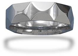 Tungsten Carbide Diamond Pattern Men's Ring
