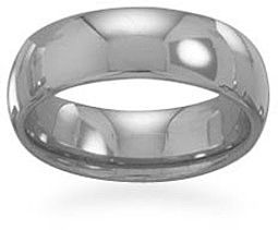 "Tungsten Carbide 6mm (1/4"") Ring - New!"