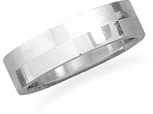 Alternating polished and brushed stainless steel ring - DISCONTINUED