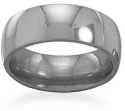 "7mm (2/7"") polished titanium ring"
