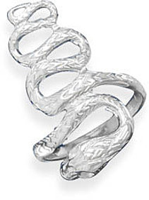 Polished Snake Ring 925 Sterling Silver
