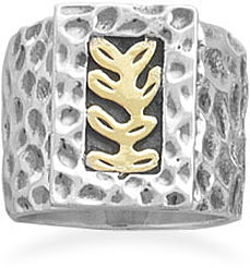 Fern Design Ring 925 Sterling Silver