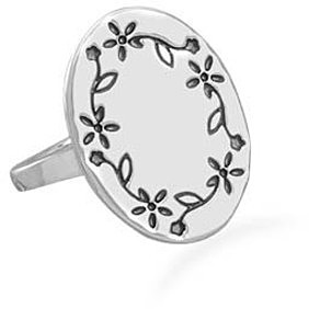 Floral Design Ring 925 Sterling Silver