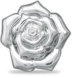Polished Flower Ring 925 Sterling Silver