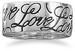"""Love"" Band 925 Sterling Silver"