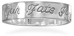Antique Finish Message Ring 925 Sterling Silver