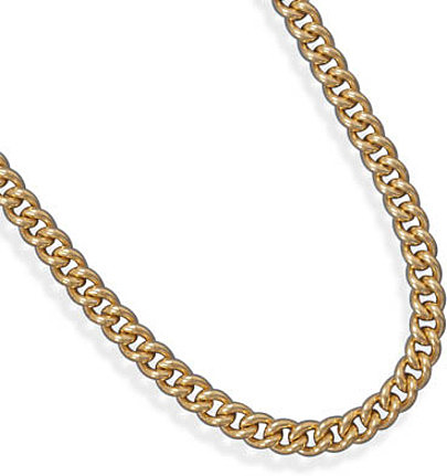 "16"" 7.1mm (2/7"") 14/20 Gold Filled  Curb Chain"