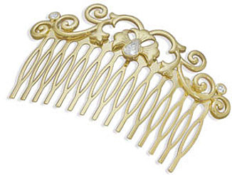 "3"" 14 Karat Gold Plated Fashion Hair Comb"