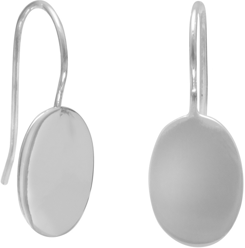 "11mm (7/16"") Oval Engravable Earrings 925 Sterling Silver - DISCONTINUED"