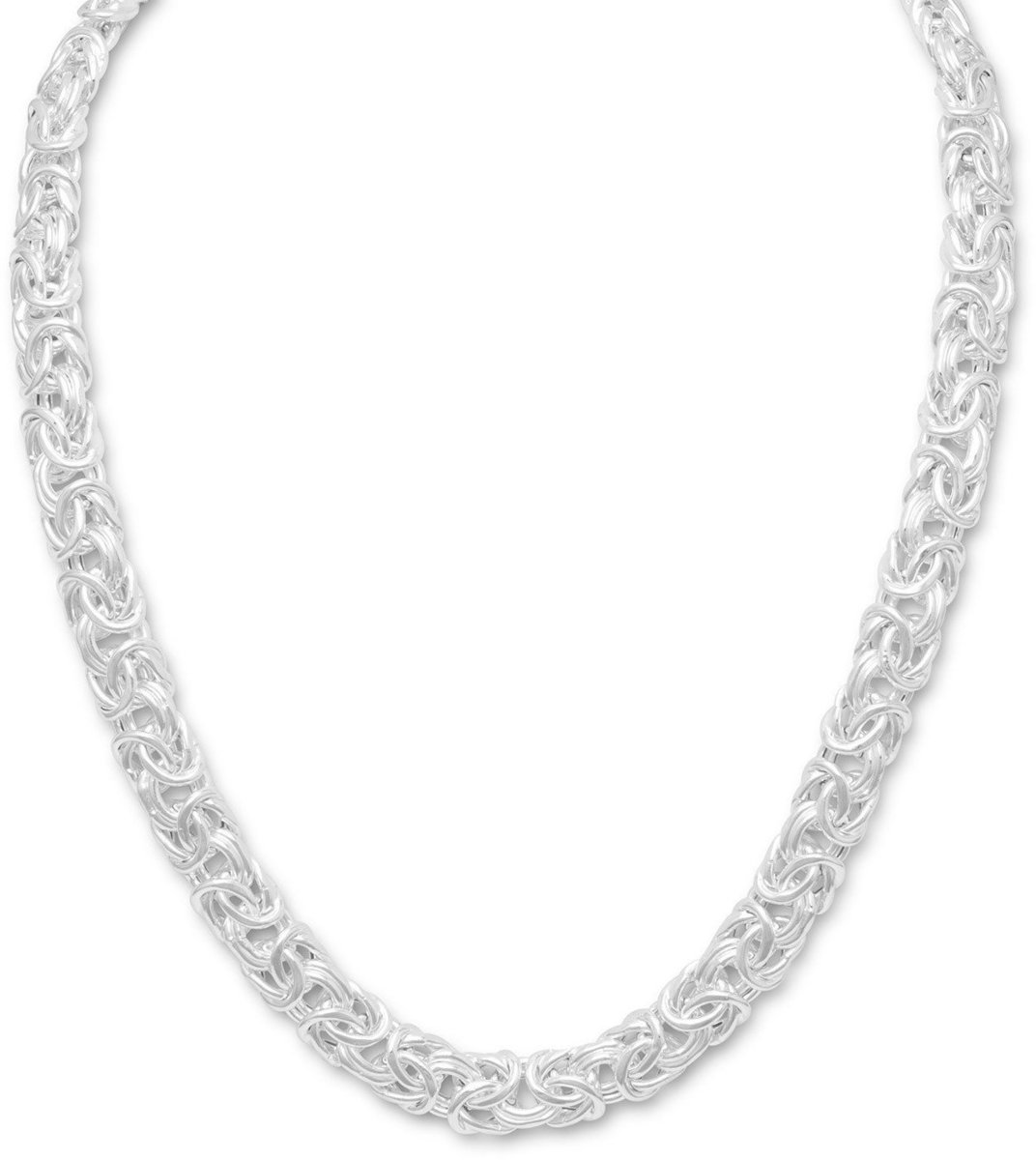 "18"" Byzantine Necklace 925 Sterling Silver"