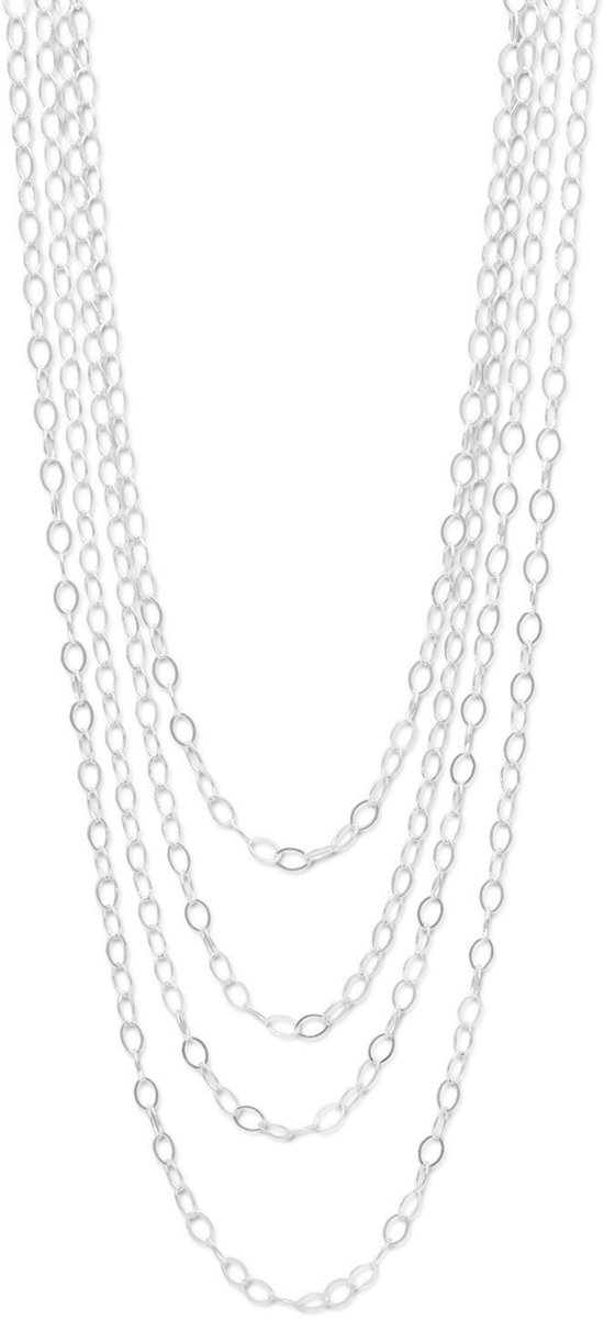 "100"" Open Link Cable Necklace 925 Sterling Silver"