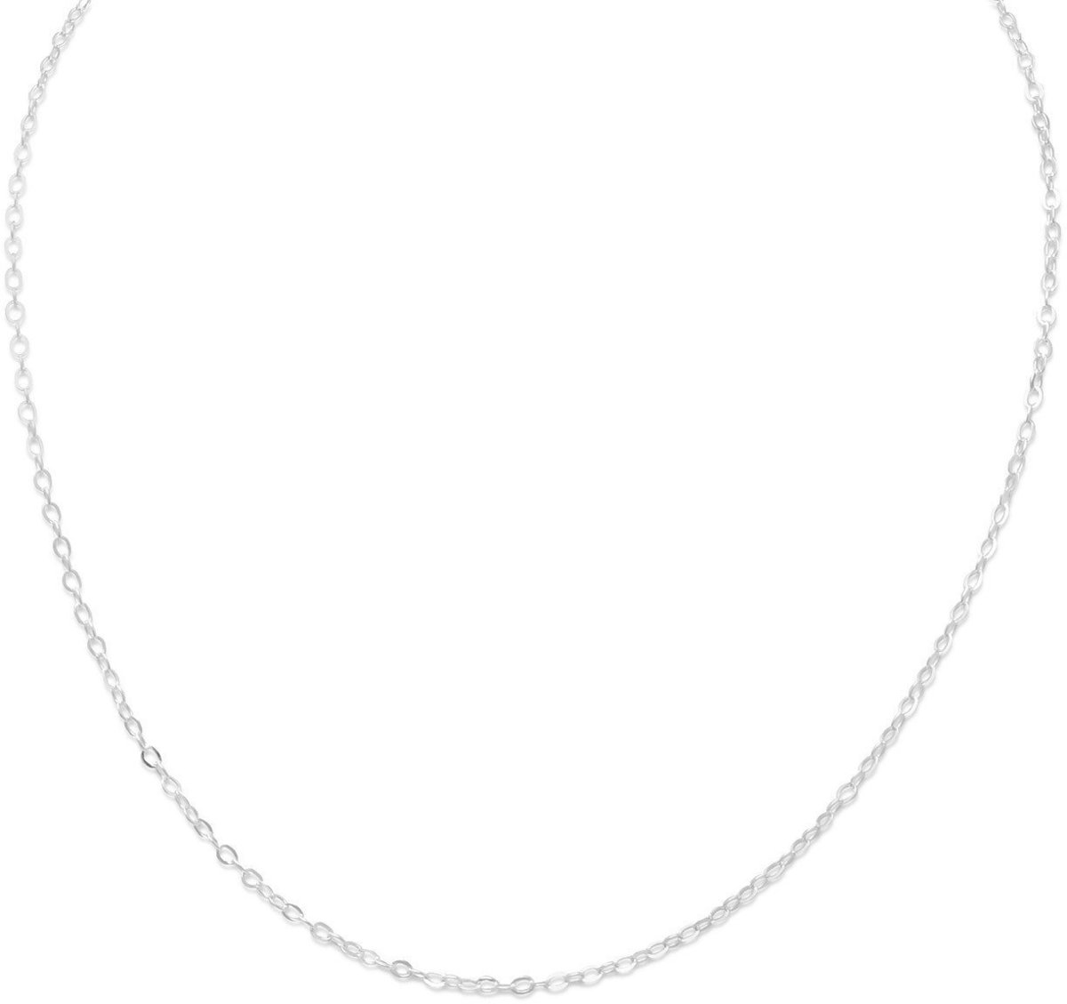 "13""+1""Extension Cable Chain Necklace 925 Sterling Silver"