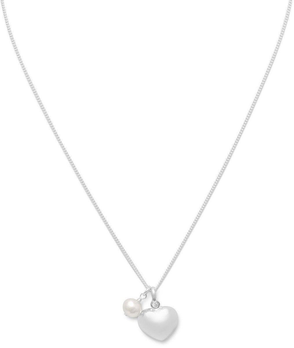 "16"" Multicharm Necklace 925 Sterling Silver"