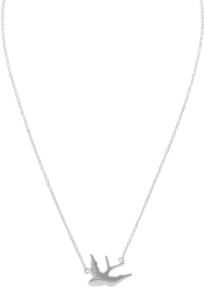 "17"" Dove Necklace 925 Sterling Silver"