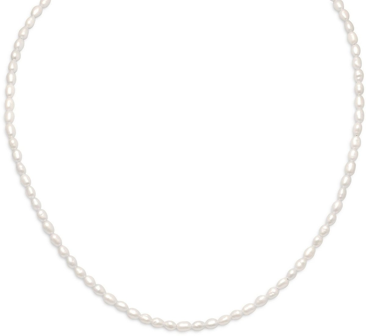 "13""+2"" 14/20 Gold Filled Cultured Freshwater Rice Pearl Necklace"