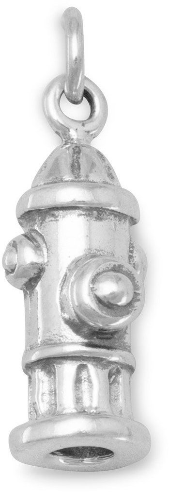 Fire Hydrant Charm 925 Sterling Silver