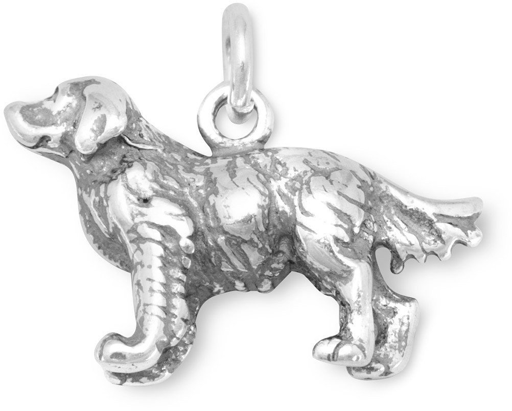 Golden Retriever Charm 925 Sterling Silver