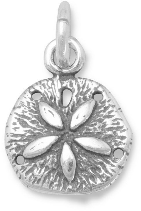 Small Sand Dollar Charm 925 Sterling Silver