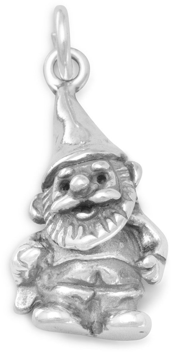 Garden Gnome Charm 925 Sterling Silver