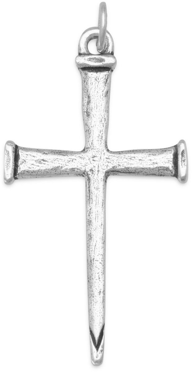 Cross of Nails Pendant 925 Sterling Silver