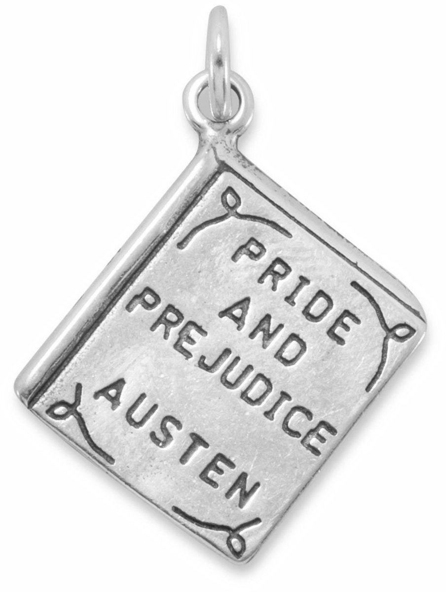 Pride and Prejudice Book Charm 925 Sterling Silver