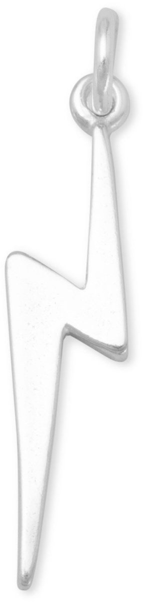 Lightning Bolt Charm 925 Sterling Silver