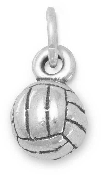 (C) Small Volleyball Charm 925 Sterling Silver