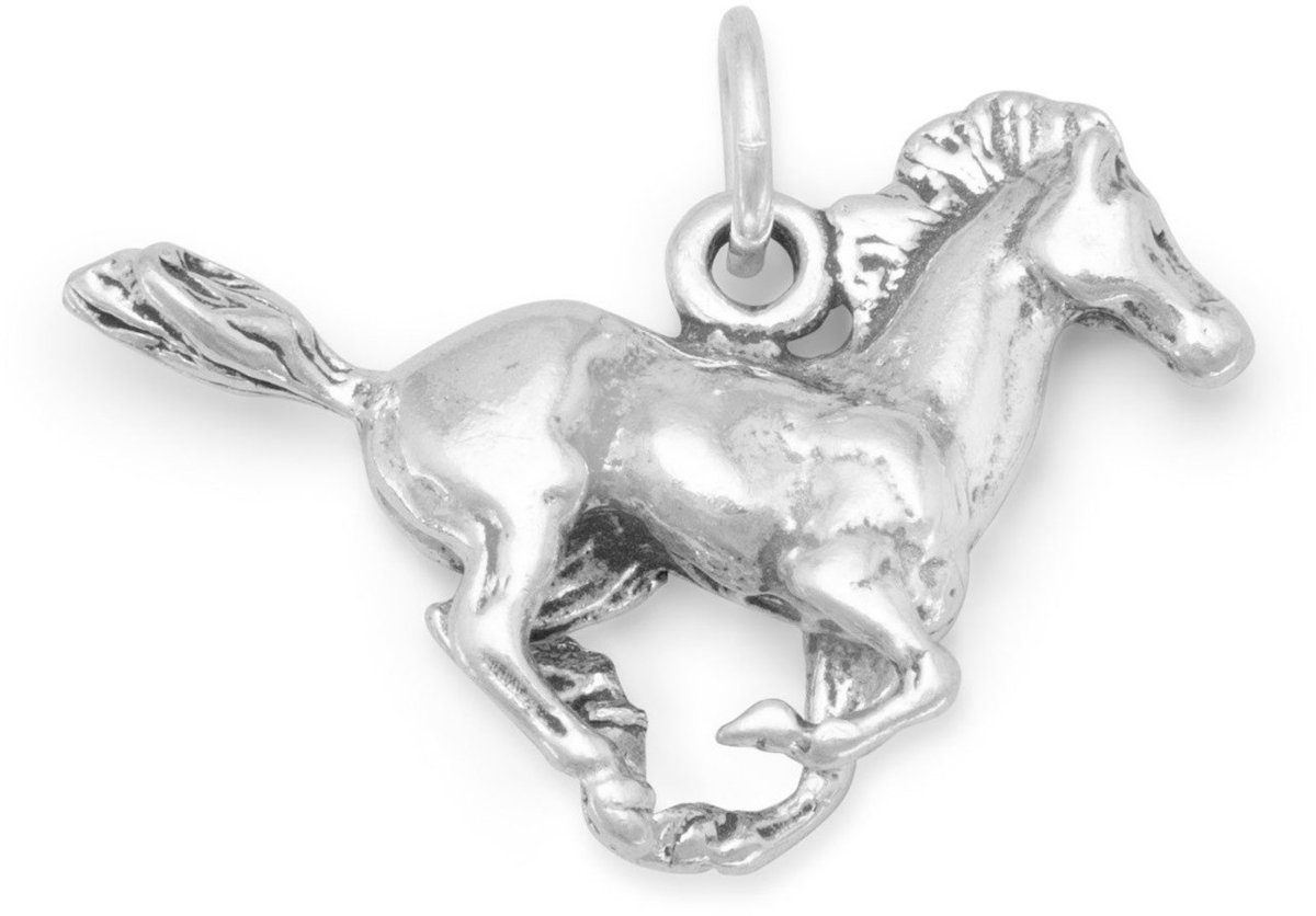 Running Horse Charm 925 Sterling Silver