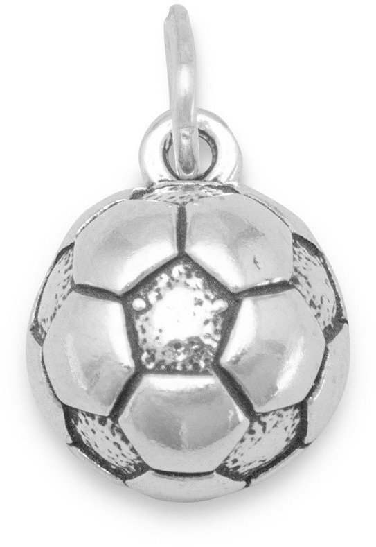 (C) Soccer Ball Charm 925 Sterling Silver