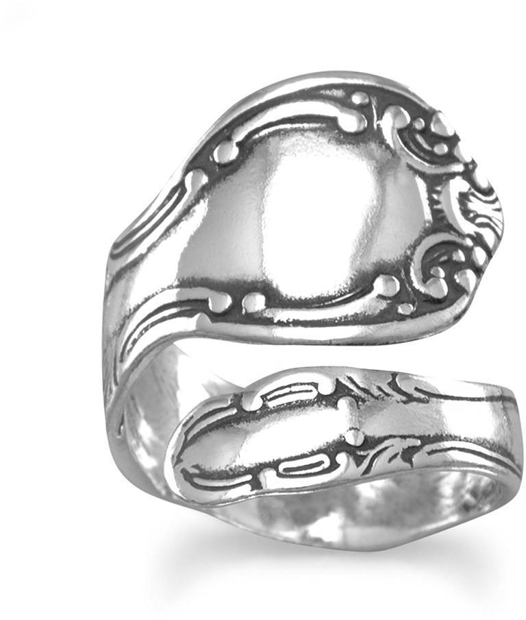 Oxidized Spoon Ring 925 Sterling Silver