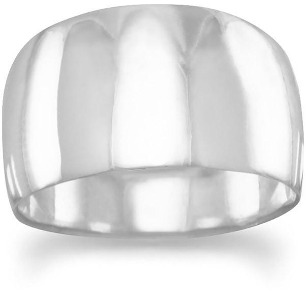 Wide Tapered Polished Ring 925 Sterling Silver