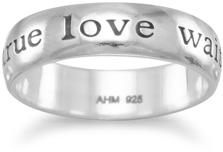 true love waits Ring 925 Sterling Silver
