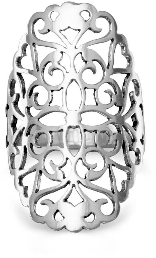 Large Cut Out Flower Design Ring 925 Sterling Silver