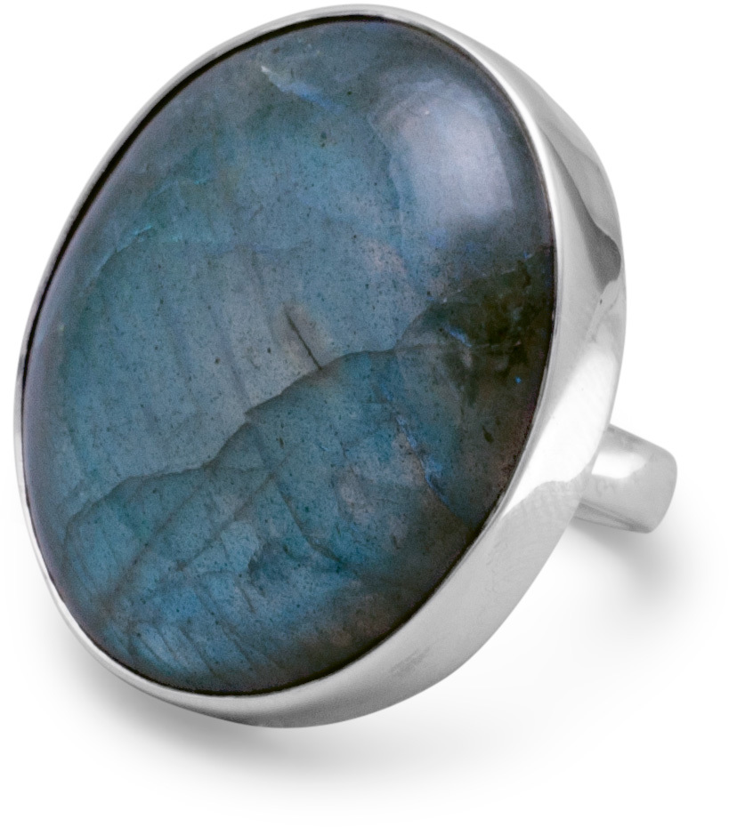 Oval Labrodorite Ring 925 Sterling Silver