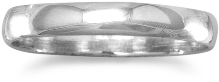 Polished Solid Band 925 Sterling Silver