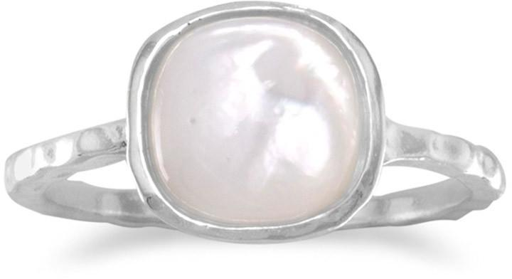 Mother of Pearl Stackable Ring 925 Sterling Silver