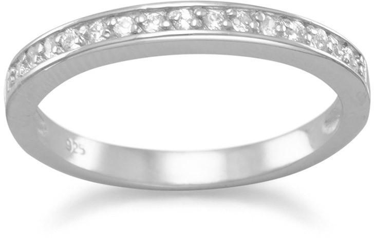 Rhodium Plated CZ Ring 925 Sterling Silver - DISCONTINUED