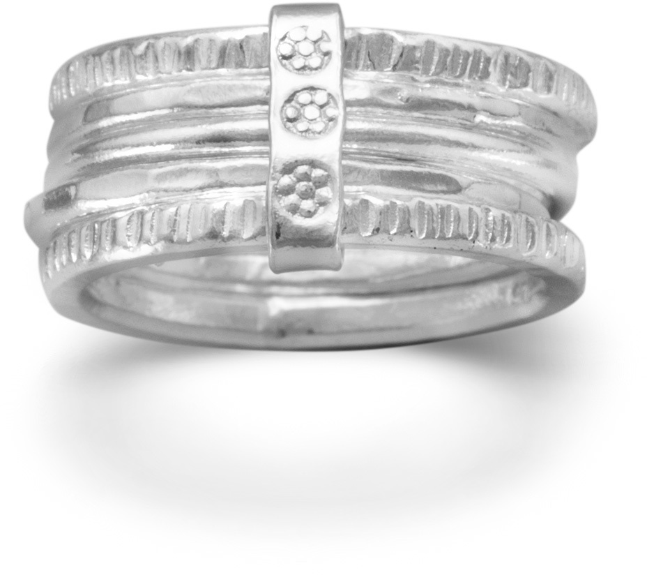 5 Band Ring 925 Sterling Silver