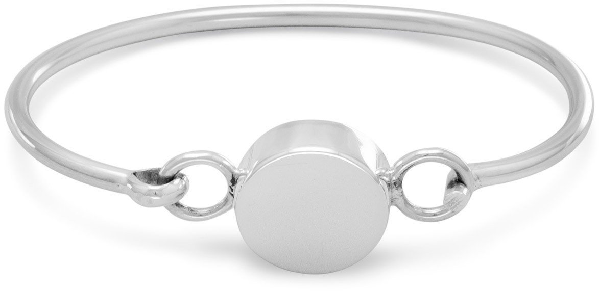 "4.5""-5"" Round Engravable Bangle 925 Sterling Silver"